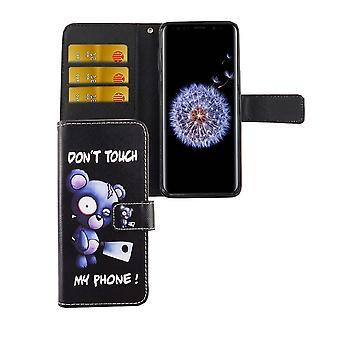Handyhülle Tasche für Handy Samsung Galaxy S9 Bär mit Beil
