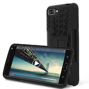 Schokbestendige Stand case voor Asus Zenfone 4 Max Plus/Pro ZC554KL & Kickstand-zwart