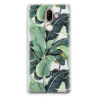 Nokia 7 Plus transparentes Gehäuse (Soft) - Bananenblätter