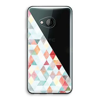 HTC U spelen transparant Case (Soft) - gekleurde driehoeken pastel