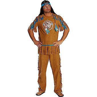 Indiska mäns kostym av vilda västern karneval