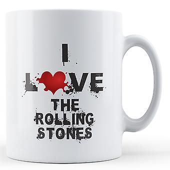 I Love The Rolling Stones printed mug