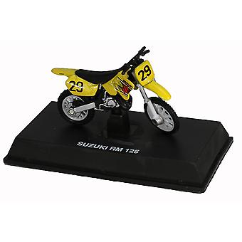 Die-Cast giallo Suzuki RM 125 Dirt Bike, 01:32 scala