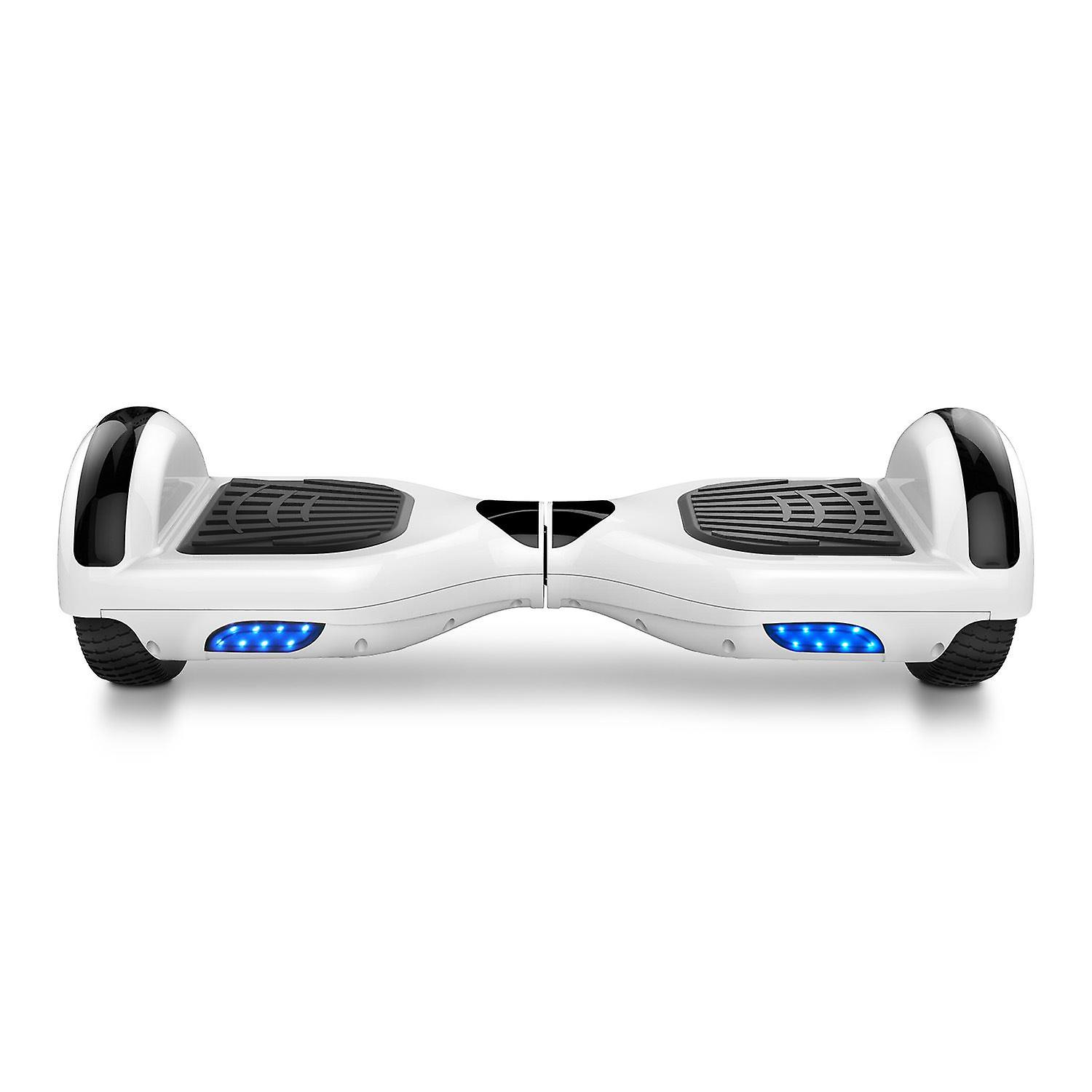 Mega Motion Hoverboard - Self Balanced Electric Scooter - e-cooter- with RGB LED on Wheels - Trendy LED-Bluetooth Decoration - Speakers - 700W Motor - segway with LED