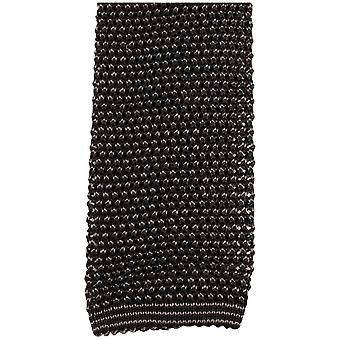 KJ Beckett Phil Birdseye Two Tone Knitted Tie - Charcoal/Grey