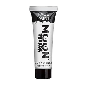 Moon Terror - Halloween Face Paint for the Face & Body - 12ml - Create spooky face paint designs! Perfect for vampire, ghost, skeleton, witch, pumpkin, monster etc - Wicked White