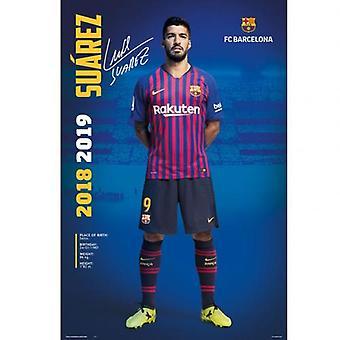 Barcelona affisch Suarez 30