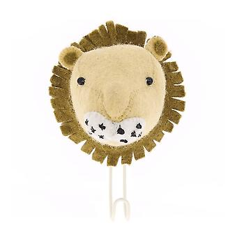 Fiona Walker England Big Felt Lion Head Coat Hook