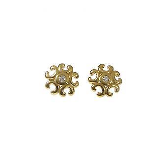 Cavendish francese Oro Vermeil carino filigrana orecchini