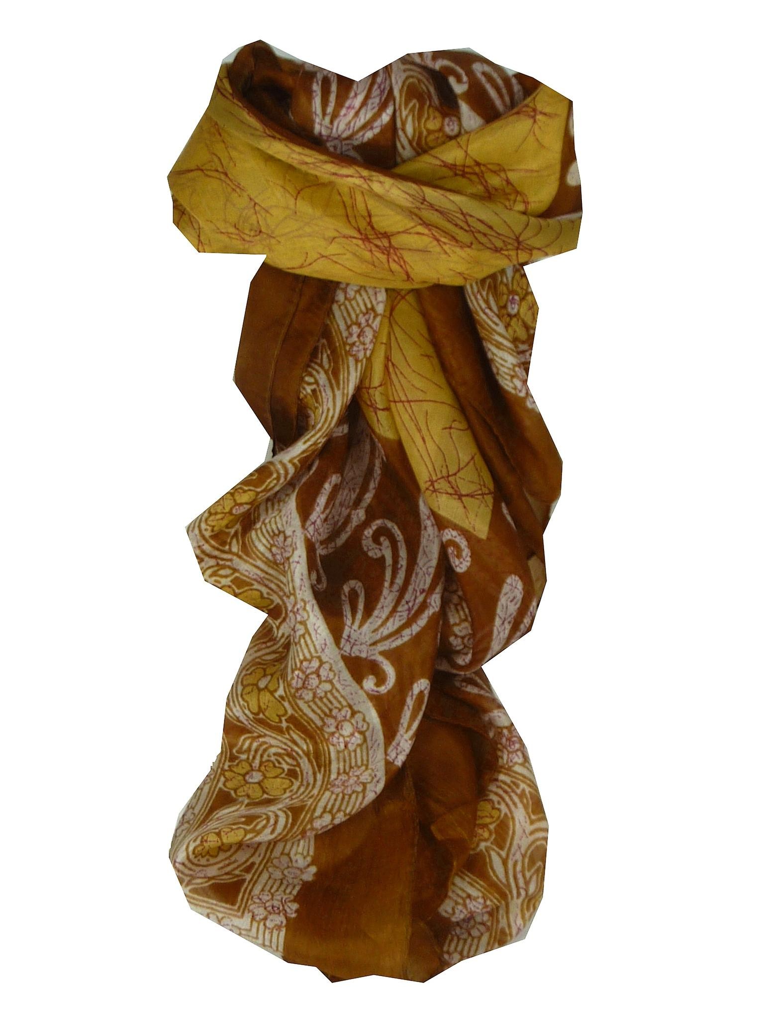 Mulberry Silk Classic Square Scarf Geena Caramel by Pashmina & Silk