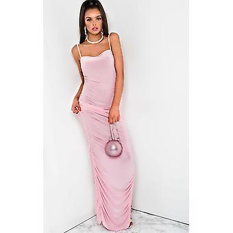 IKRUSH Womens Tia Slinky Side Split Maxi Dress