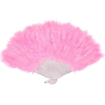 Пернатый фан - пастельные розовый