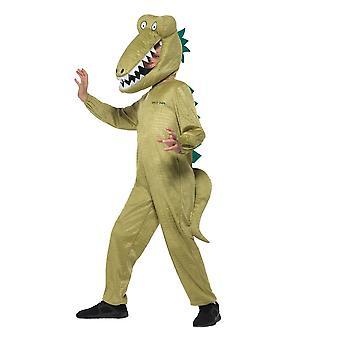 Roald Dahl Deluxe Enormous Crocodile Costume,Licensed Fancy Dress, Age 10-12