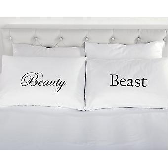Beauty and the Beast Pair of Pillowcases