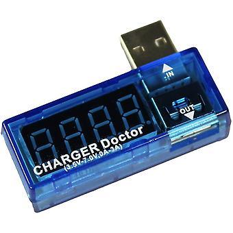 Voltmètre et chargeur USB chargeur Doctor-téléphone-multimètre détecteur actuel
