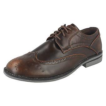 Mens Maverick Lace Up Brogue Shoes