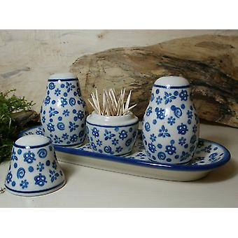 Salt, peppar & tandpetare set med bricka, tradition 12 BSN 5773