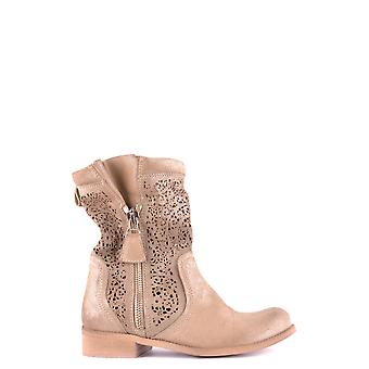 Candice Cooper Ezbc276005 Women's Gold Suede Ankle Boots