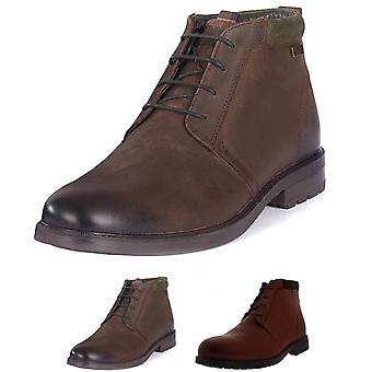 Mens Barbour Kielder Leather Working Office Derby Lace Up Ankle Boots