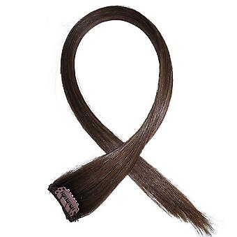 #6 luonnollinen Brunette - Clip in hiukset raitoja