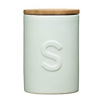 Frasco de Premier Housewares Fenwick azúcar, de color azul claro
