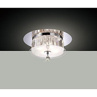 Tosca Ceiling Round 4 Light Polished Chrome/glass/crystal