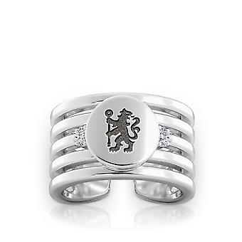 Chelsea FC Diamond Ring In Sterling Silver Design by BIXLER