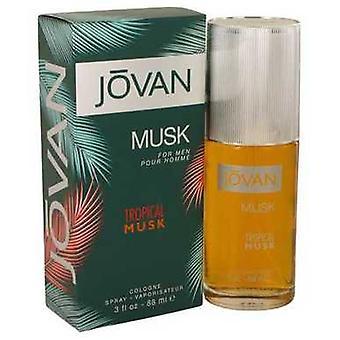 Jovan Tropical Musk By Jovan Cologne Spray 3 Oz (men) V728-540075
