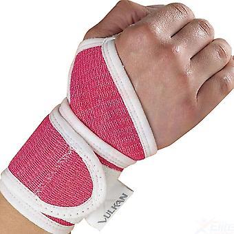 Vulkan geavanceerde elastische vrouwen pols sportblessure ondersteuning roze (one size)