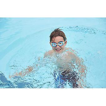 Zoggs Swimming Goggles Predator Mirror in Green/Blue/Mirror - 6-14yrs