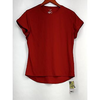 Zorrel Plus Top XXL Athlete Series Short Sleeve Tee Red Womens