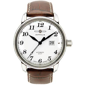 Count Automatic Analog Man Watch with Cowhide Bracelet 7652-1
