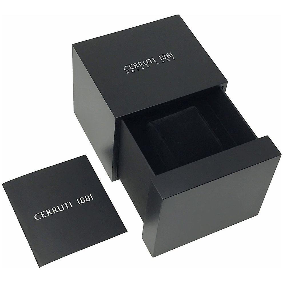 Cerruti 1881 Mens Gents Noir et Bleu Designer Montre de poignet CRA24006