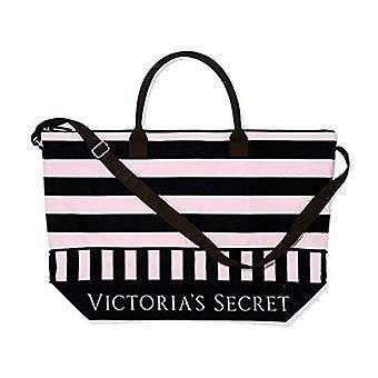Victoria's Secret Expandable Pink Black Weekender Duffle Travel Bag Carry-on