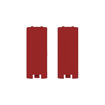 Battery cover for wii & wii u remote nintendo controller cover back - 2 pack red