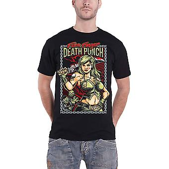 Five Finger Death Punch T Shirt Assassin Band logo new Official Mens Black