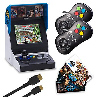 Neogeo Mini International Collectors Pack: zwart (inclusief neogeo mini + 2 x zwarte controllers + HDMI-kabel + sticker Kit + 40 klassieke neogeo games)