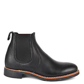 Punainen siipi naisten ' s 6 tuuman musta nahka Chelsea Boot