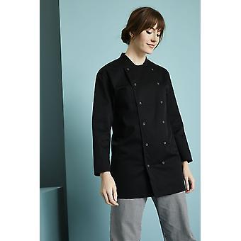 SIMON JERSEY Unissex Long Sleeve Chef's Jacket, Black