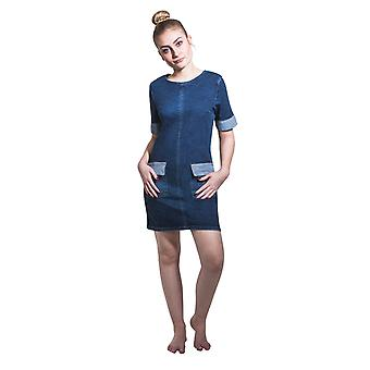 Mimi stretch denim dress palewash