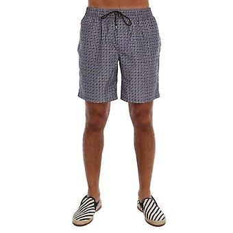 Dolce & Gabbana Blue Print Beachwear Shorts--BYX1759408