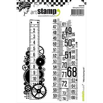 Carabelle студия «Стимпанк метр» цепляться за штамп, белый/прозрачный, A6