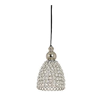 Light & Living Hanging Pendant Lamp E14 D13x22cm Elene Nickel Crystal