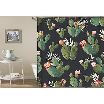 Blühende Kaktus Duschvorhang