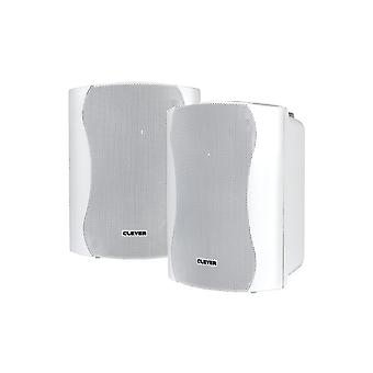 Clever Acoustics Wps35t White 100v Weatherproof Speakers (pair)