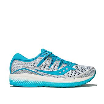 Womens Saucony Triumph Iso 5 Running Shoes In White / Blue