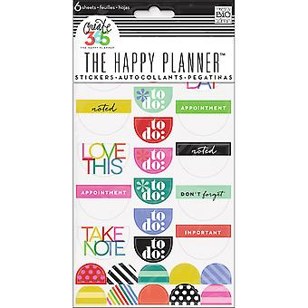 Happy Planner Stickers 6/Sheets -To Do, Brights
