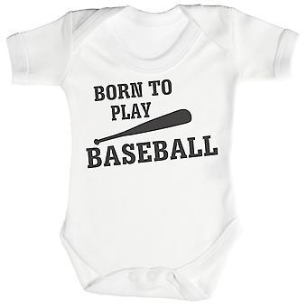 Born To Play BaseBall Baby Bodysuit / Babygrow