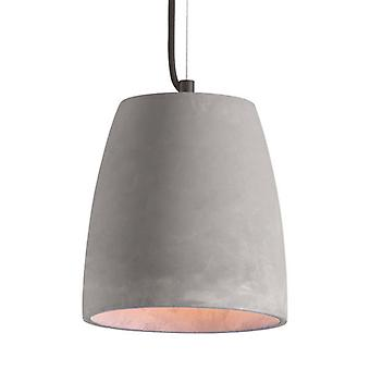 Lámpara de techo de cemento gris industrial moderno