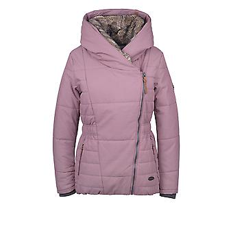 Alife and kickin women's winter jacket sporty short jacket Frieda with fur in wine size M-XL